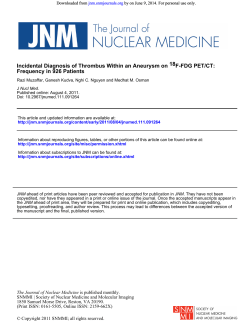 by on June 9, 2014. For personal use only. Downloaded from jnm.snmjournals.org