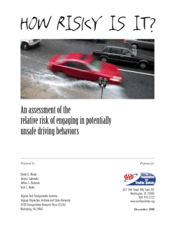 HOW RISKY IS IT? An assessment of the unsafe driving behaviors
