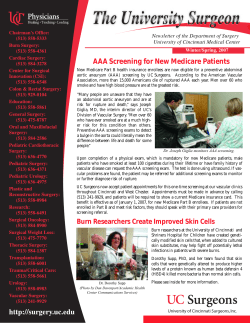 AAA Screening for New Medicare Patients Winter/Spring, 2007