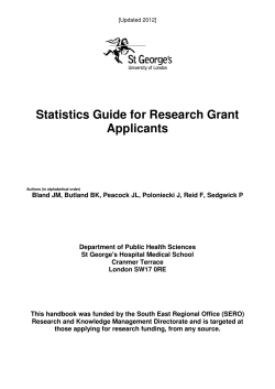 Statistics Guide for Research Grant Applicants