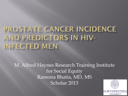 M. Alfred Haynes Research Training Institute for Social Equity Scholar 2013