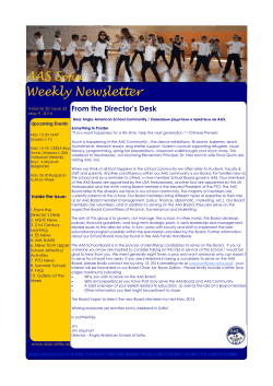 AAS S  Weekly Newsletter ofia