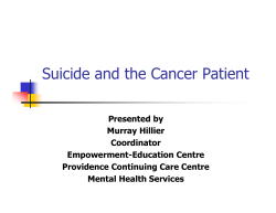 Suicide and the Cancer Patient