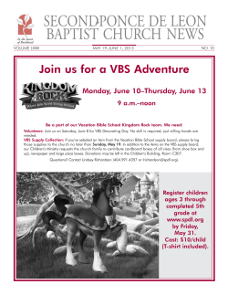 SECOND-        PONCE ... BAPTIST CHURCH NEWS