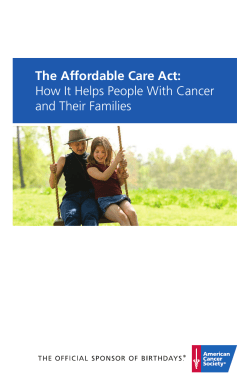 The Affordable Care Act: How It Helps People With Cancer