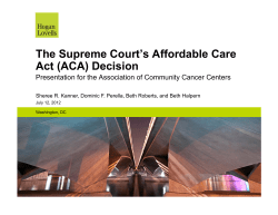 The Supreme Court's Affordable Care Act (ACA) Decision
