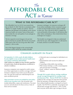 Affordable Care Act in Kansas The