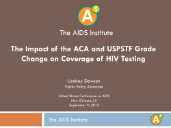 The Change on Coverage of HIV Testing The AIDS Institute
