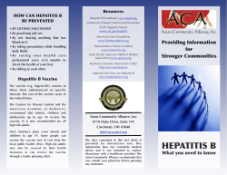 Providing Information Resources HOW CAN HEPATITIS B BE PREVENTED