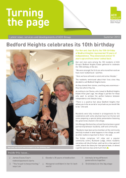 Bedford Heights celebrates its 10th birthday Summer 2013