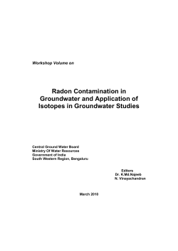 Radon Contamination in Groundwater and Application of Isotopes in Groundwater Studies