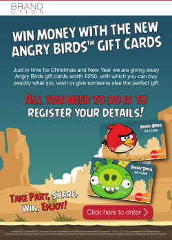 WIN MONEY WITH THE NEW GIFT CARDS ANGRY BIRDS