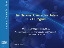 The National Cancer Institute's NExT Program