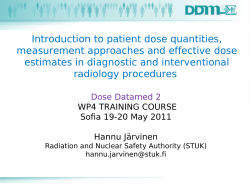 Introduction to patient dose quantities, measurement approaches and effective dose