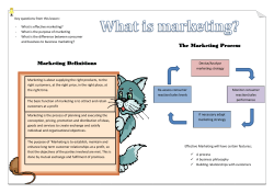 Key questions from this lesson: - What is effective marketing?