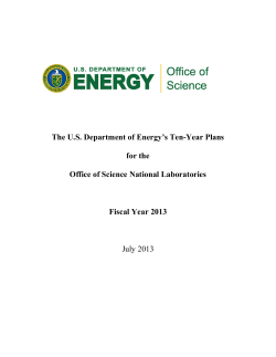 The U.S. Department of Energy's Ten-Year Plans for the