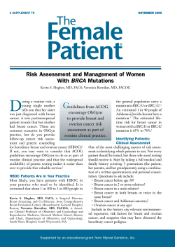 D G Risk Assessment and Management of Women BRCA