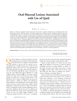 Oral Mucosal Lesions Associated with Use of Quid C