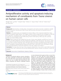 Antiproliferative activity and apoptosis-inducing mechanism of constituents from Toona sinensis