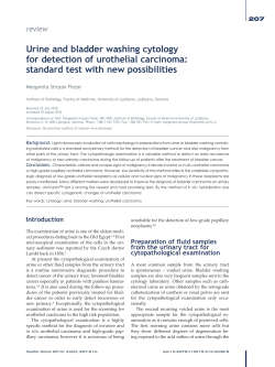 Urine and bladder washing cytology for detection of urothelial carcinoma: