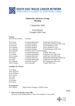 Endocrine Advisory Group Meeting 2 September 2003