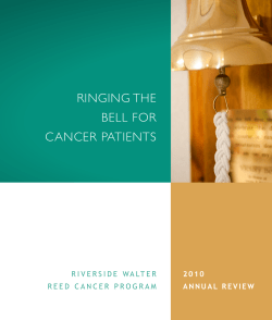 RINGING THE BELL FOR CANCER PATIENTS