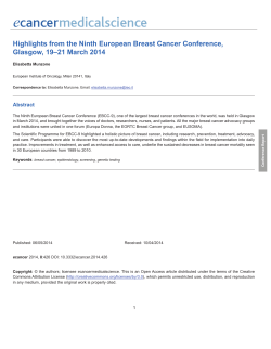 Highlights from the Ninth European Breast Cancer Conference, Abstract