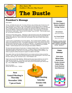 The Bustle President's Message Beta Sigma Phi Southwest Houston City Council