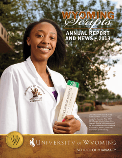 ANNUAL REPORT AND NEWS • 2013