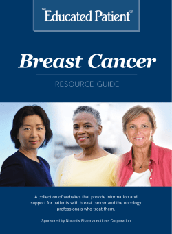Breast Cancer RESOURCE GUIDE