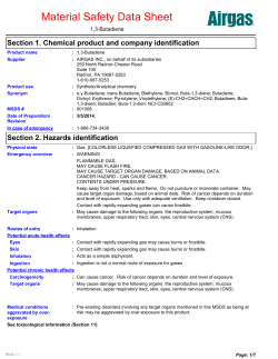 Material Safety Data Sheet Section 1. Chemical product and company identification 1,3-Butadiene