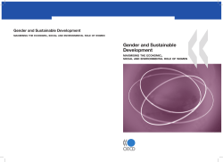 Gender and Sustainable Development Gender and Sustainable Development