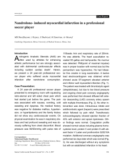 A Nandrolone- induced myocardial infarction in a professional soccer player