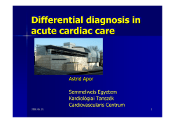 Differential diagnosis in acute cardiac care Differential diagnosis
