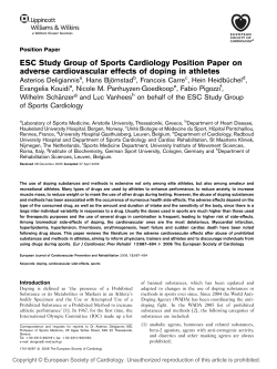 ESC Study Group of Sports Cardiology Position Paper on