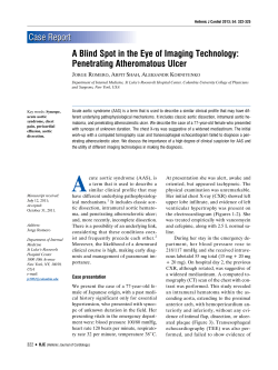 Case Report A Blind Spot in the Eye of Imaging Technology: J