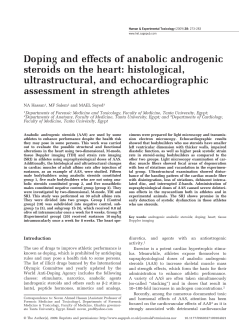 Doping and effects of anabolic androgenic steroids on the heart: histological,