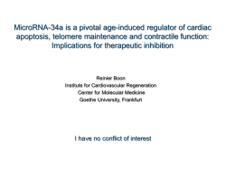 MicroRNA-34a is a pivotal age-induced regulator of cardiac