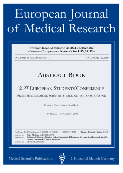 European Journal of  Medical Research A B