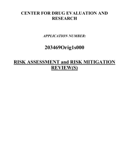203469Orig1s000 RISK ASSESSMENT and RISK MITIGATION REVIEW(S)