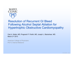 Resolution of Recurrent GI Bleed Following Alcohol Septal Ablation for