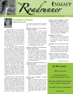 President's Column By Dolores Gomez, MD