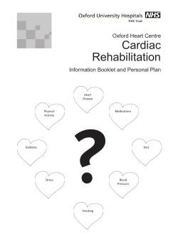 ? Cardiac Rehabilitation Oxford Heart Centre