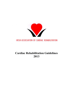 Cardiac Rehabilitation Guidelines 2013