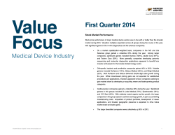 Value Focus First Quarter 2014 Stock Market Performance