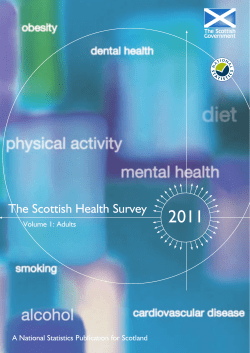 2011 The Scottish Health Survey  Volume 1: Adults