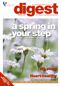 digest a spring in your step My story