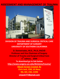 ASSESSMENT AND MANAGEMENT OF TRAUMA