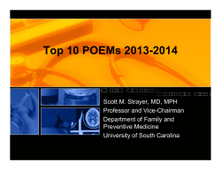 Top 10 POEMs 2013-2014