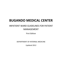 BUGANDO MEDICAL CENTER  INPATIENT WARD GUIDELINES FOR PATIENT  MANAGEMENT